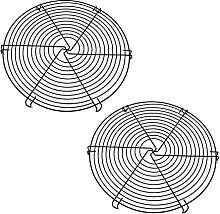 FDKJOK Lot de 2 grilles de refroidissement rondes
