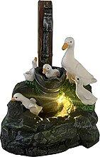 fdsad Statue De Jardin avec Lumières LED Solaires