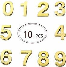 FECTY 10 pièces Environ 1,96 Pouce Numéros de