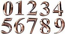 FECTY Numéros métalliques Stickers, Boîte aux