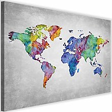 Feeby Impression XXL Carte du Monde Image en Liege