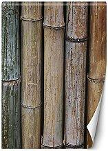 Feeby Papier Peint Intisse Bambou Imitation Bois