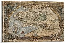 FEIWU Carte du monde du pays du milieu - Le