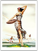 Femme Hawaïen en Sarong (K Kepa) de Gill c.1940s