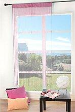 FENETRE SUR COUR Rideau Fil 90200Cm, Rose, 90x200