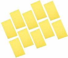 Fenteer 10x Pièges à Insectes Papier Collant