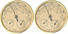 Fenteer 2X Horloge de Baromètre D'hygromètre