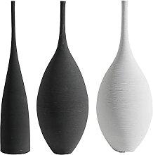 Fenteer 3pcs Minimalisme Fleur Vase Art Moderne