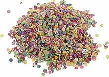 Fenteer 5000pcs Coloré Nail Art Tranches Conseils