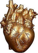 Fenteer Anatomique Coeur Vase, Creative Résine
