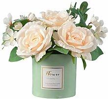 Fenteer en Pot Fleurs Artificielles Faux Fleurs en