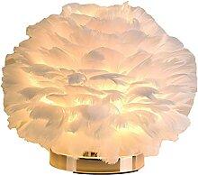 Fenteer Lampe de Table Plume Lampe de Bureau
