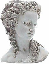 Fenteer Résine Pot de Fleur Vase Visage Sculpture