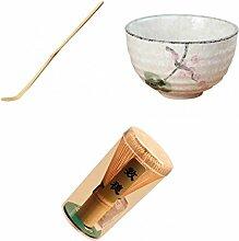 Fenteer Service à Thé Japonais, Fouet Matcha
