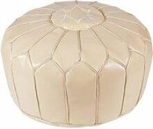Fesa pouf marocain - o 50 x h 30 cm - beige