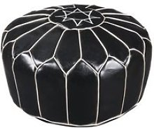 Fesa pouf marocain - o 50 x h 30 cm - noir