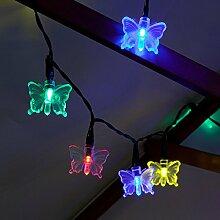 Festive Lights Guirlande Solaire Papillon 100 LED