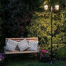 Festive Lights Lampadaire Solaire LED en Aluminium