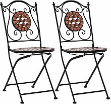 Festnight Chaises de Bistrot Mosaïque pour