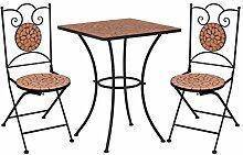 Festnight Mobilier de Bistro 1 Table et 2 Chaises