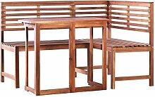 Festnight Mobilier de Jardin 1 Table Pliable + 1