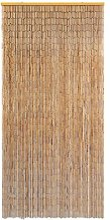 Festnight Rideau de Porte en Bambou Contre Insectes