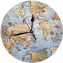 FETEAM Grande Horloge Personnalisée avec Votre