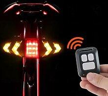 Feu arrière LED pour vélo, avec clignotants et