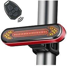 Feu arrière LED pour vélo avec clignotants et
