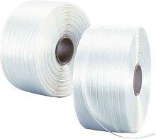 feuillard textile collé 16 str 600 m - carton de