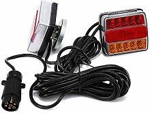 Feux arrière LED 12 V câblés éclairage de