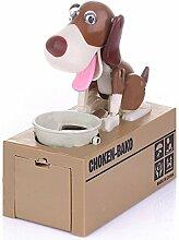 FGF Tirelire chien robot mange-pièces, jouet pour