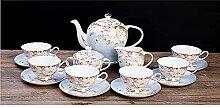 FHISD Ensembles de thé en Porcelaine 15 pièces