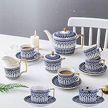 FHISD Service à thé en Porcelaine 11 pièces,