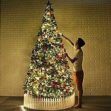 FHKSFJ Arbre de Noël pré-éclairé Artificiel,