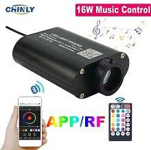 Fibre optique Flash Musical 16W, contrôle par