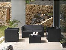 Figari - Salon bas de jardin 4 places - en résine