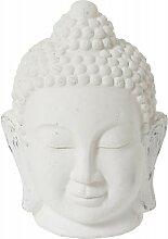 Figurine Bouddha céramique blanche H44cm
