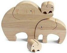 Figurine d'éléphant mère et enfant,