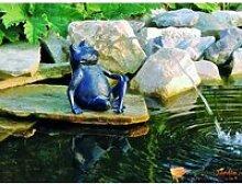 Figurine de bassin en polyrésine gargouille