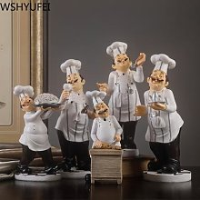 Figurine de Chef en résine, décoration de la