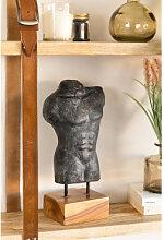 Figurine décorative Vince Gris Anthracite Sklum
