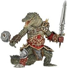 Figurine homme crocodile