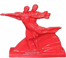 Figurine Méribel couple de patineur faïence
