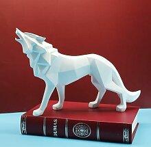 Figurines de loup en polyrésine S/L, Sculptures