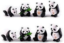 Figurines de Pandas Miniatures en résine, Pot de