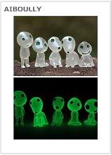 Figurines elfes en pot, 5 pièces, jouet lumineux,