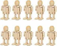 Figurines en Bois Jouet de Bureau Figurines