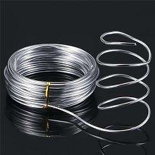 Fil artisanal en aluminium argenté 10/20M, fil