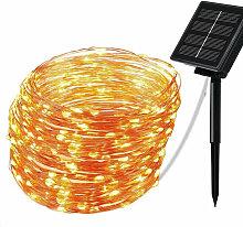 Fil de cuivre solaire guirlande lumineuse en fil